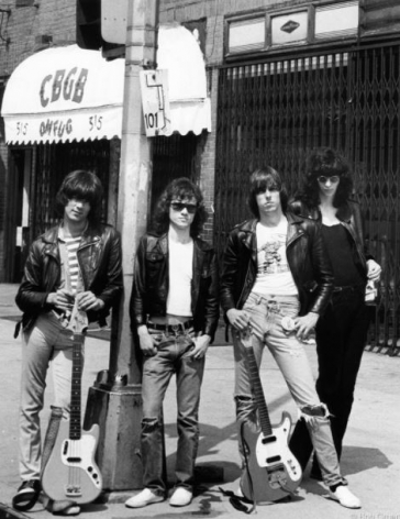 The Ramones, New York City, 1975