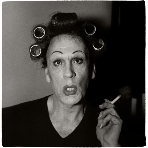 Diane Arbus / A Young Man in Curlers at Home on West 20th Street, N.Y.C (1966), 2014