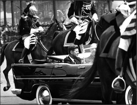 John F. Kennedy and Charles de Gaulle, Paris, 1961