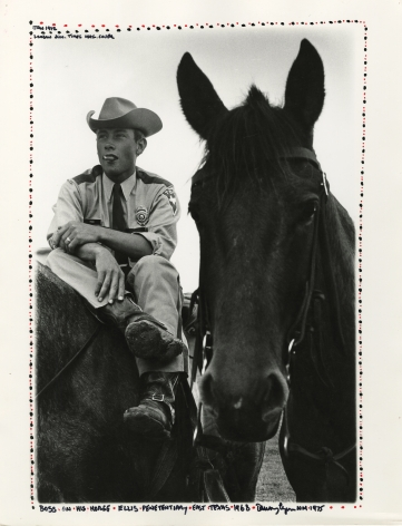 Copyright Danny Lyon / Magnum Photos, Boss on his Horse, Ellis Penitentiary, East Texas, from Conversations with the Dead, 1968