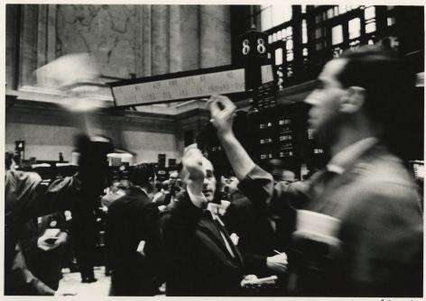 New York Stock Exchange, 1955, Silver Gelatin Photograph