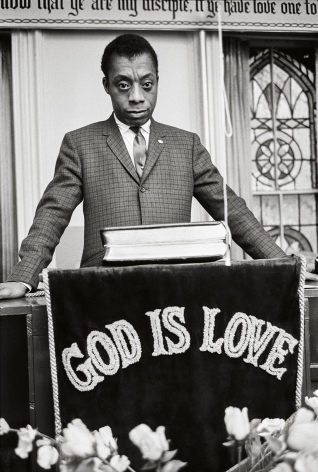 James Baldwin, God is Love, New York, 1963, 20x 16Inches, Silver Gelatin Photograph, Edition of 25