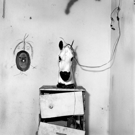 Horse Head on Drawers, 1998, Silver Gelatin Photograph