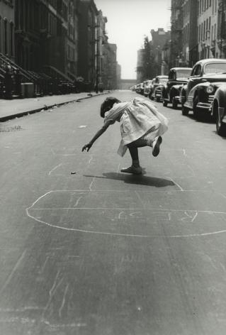 Hopscotch, Sunday Morning, 93rd Street, New York City, 1950, Silver Gelatin Photograph