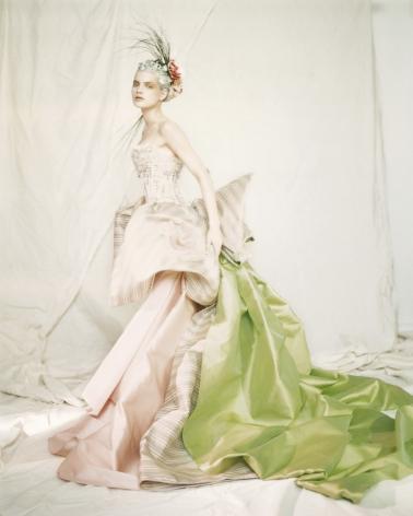 Guinevere in a Nina Ricci Haute Couture dress, Paris,1996, Archival Pigment Print