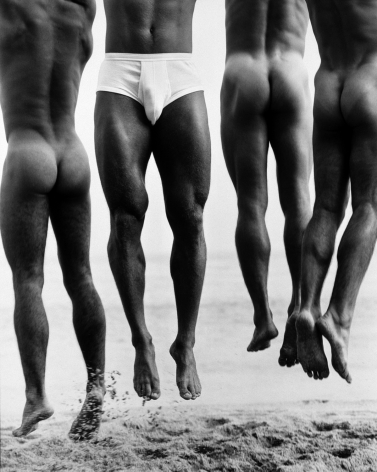 Jump, Paradise Cove, 1987, 20 x 16 Inches, Silver Gelatin Photograph, Edition of 25