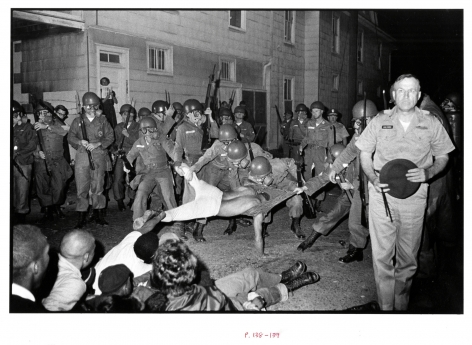 Copyright Danny Lyon / Magnum Photos, Cliff Vaughs, SNCC photographer, Arrested, Cambridge MD Spring, from Memories of The Southern Civil Rights Movement, 1964
