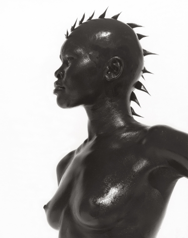Alek Wek, Los Angeles (b), 1998, 14 x 11 Inches, Silver Gelatin Photograph, Edition of 2