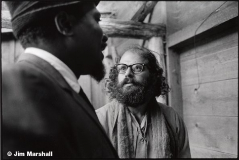 Monk and Allen Ginsberg, 1963, 11 x 14 Silver Gelatin Photograph