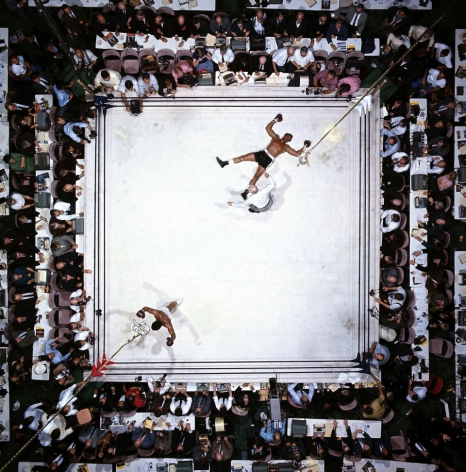 Muhammad Ali Knocks Out Cleveland Williams, Houston, Texas, November, 1966, 11 x 14 Color Photograph, Ed. 350