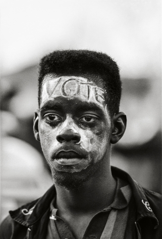 """""""Vote,"""" Selma March, 1965, 20x 16Inches, Silver Gelatin Photograph, Edition of 25"""