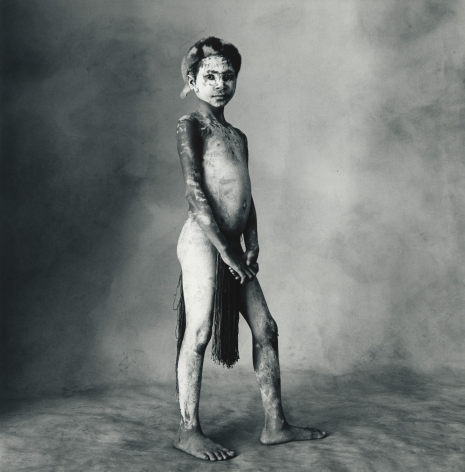 Child Painted White, New Guinea, 1970, Silver Gelatin Photograph, Ed. of 11