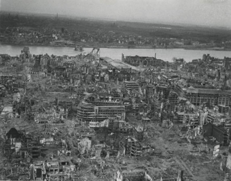 City Destroyed by War, 1945, 11 x 14 Silver Gelatin Photograph