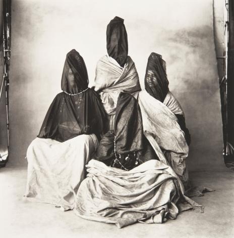 Four Guedras (B) (All in Black), Morocco, 1971, Platinum Palladium Photograph, Ed. of 21