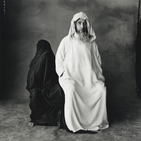 Man in White, Woman in Black (B), Morocco, 1971, Silver Gelatin Photograph, Ed. of 6