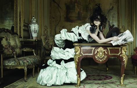 Untitled I, Olga Serova in Christian Lacroix, Tatler, 2008, 16 x 20 inches, Archival Pigment Print, Edition of 15