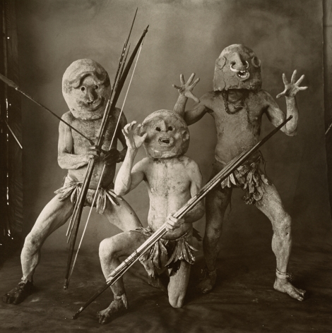 Three Asaro Mudmen (B), New Guinea, 1970, Platinum Palladium Photograph, Ed. of 24