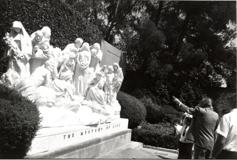 Forest Lawn Cemetery, Los Angeles, 1964, 11 x 14 Silver Gelatin Photograph