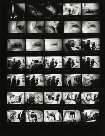 Steve Schapiro Andy Warhol, Castelli Gallery, New York(Contact Sheet), 1965