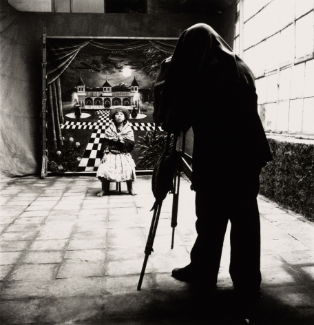 Cuzco Town Photographer with Barefoot Girl, Cuzco, 1948, 11 3/4 x 11 5/16 inches