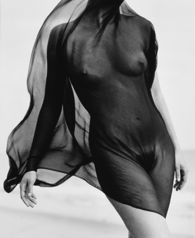 Female Torso with Veil, Paradise Cove, 1984, 20 x 16 Inches, Silver Gelatin Photograph, Edition of 25