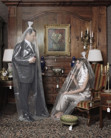 Couple Arranged With Furniture, 1998, Archival Pigment Print