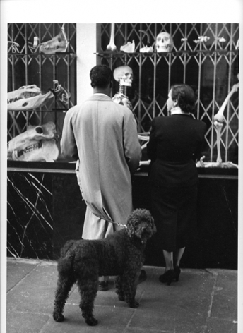 Shoppers, Paris, 1952, Silver Gelatin Photograph