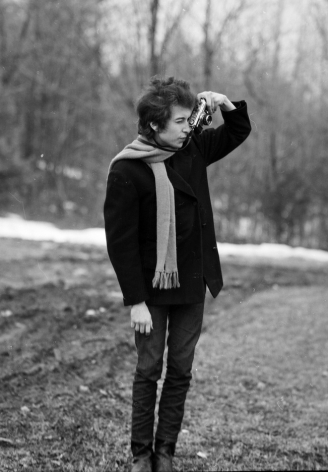 Bob Dylan With SP Camera Woodstock, NY, 1965, Silver Gelatin Photograph