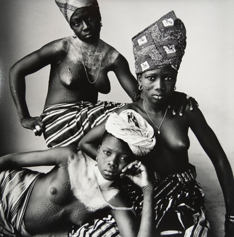 Three Dahomey Girls, One Reclining, Dahomey, 1967, Silver Gelatin Photograph, Ed. of 15