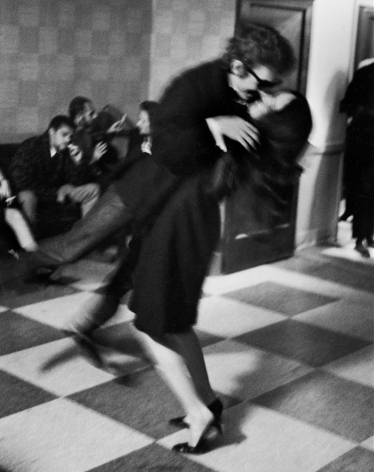 Dylan Lifted by Joan Baez After Party, NYC, 1964, Silver Gelatin Photograph