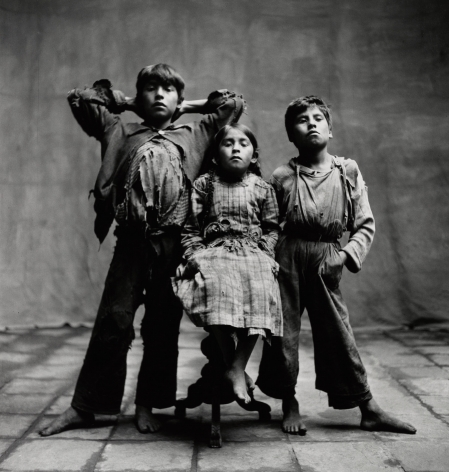 Two Standing Boys with Seated Girl, Cuzco, 1948