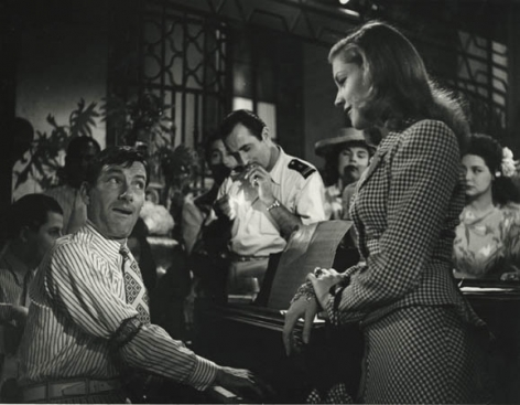 """Hoagy Carmichael and Lauren Bacall, """"To Have or Have Not"""" (Looking at camera), 1943, 11 x 14 Silver Gelatin Photograph"""
