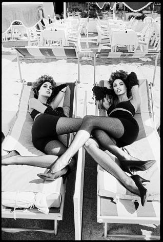 The sisters, Cannes, 1990, Silver Gelatin Photograph