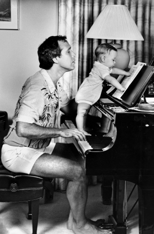 Chevy Chase with Cydney, Los Angeles, CA, 1983, Silver Gelatin Photograph