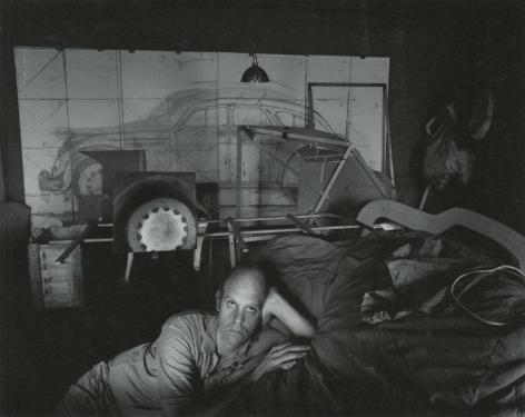 Claes Oldenburg, 1967, Vintage Silver Gelatin Photograph Mounted to Board