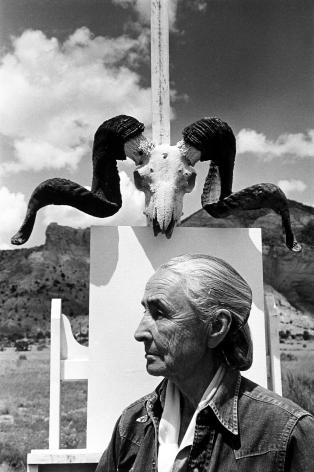 Georgia O'Keefe, Ghost Ranch, New Mexico,1968, Silver Gelatin Photograph
