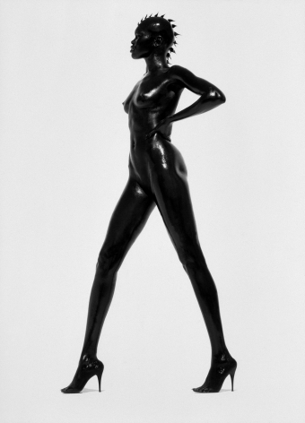 Alek Wek, Los Angeles, 1998, 53 7/8 x 46 1/8 Inches, Silver Gelatin Photograph, Edition of 12