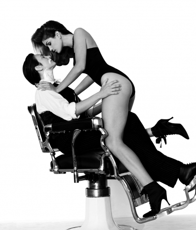 k.d. Lang and Cindy Crawford, Los Angeles, 1993, 20 x 24 Inches, Silver Gelatin Photograph, Edition of 25