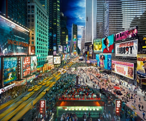 Times Square, NYC, 2010, C-Type Print