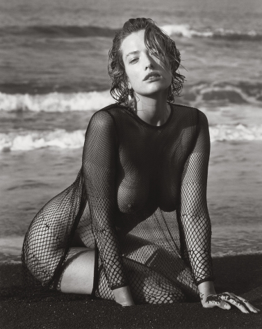 Tatjana with Black Sand, Hawaii (a), 1989, 14 x 11 Inches, Silver Gelatin Photograph, Edition of 3