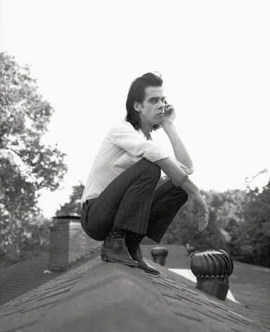 Nick Cave on My Roof, 1994, Archival Pigment Print