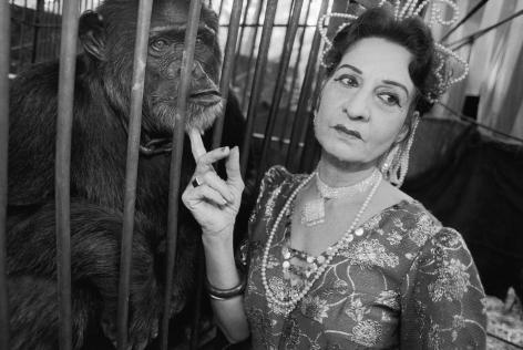 Gloria and Raja, Great Gemini Circus, Perintal Manna, India,1989, Silver Gelatin Photograph