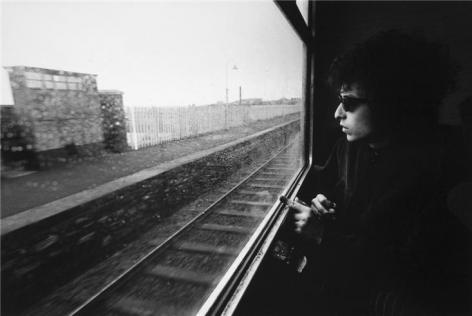 Bob Dylan, (On the Train from Dublin to Belfast), Ireland, 1966, 11 x 14 Silver Gelatin Photograph