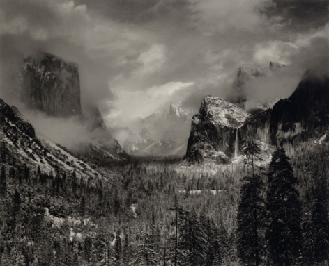 Ansel Adams Clearing Winter Storm, Yosemite Valley, 1942