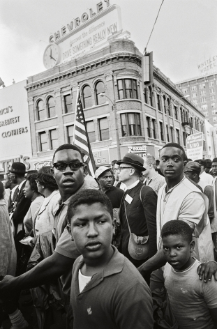 Crowd Entering Montgomery, 1965, 20 x 16 Inches, Silver Gelatin Photograph, Edition of 25