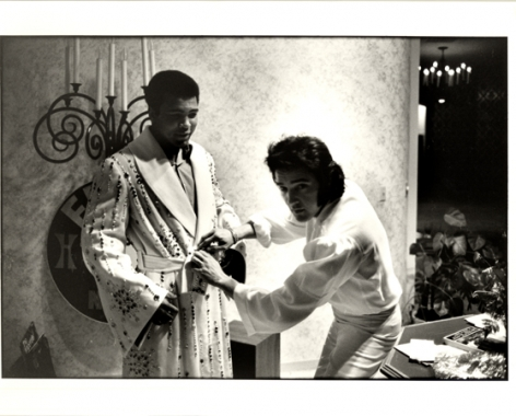Muhammed Ali and Elvis Presley, c. 1970, 11 x 14 Silver Gelatin Photograph