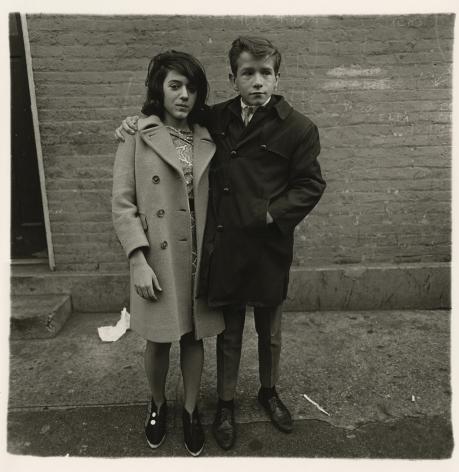 Diane Arbus Teenage couple on Hudson Street, N.Y.C., 1963