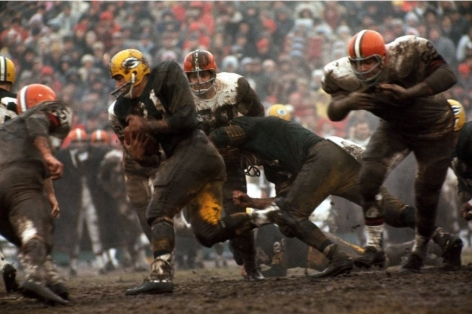 Jimmy Taylor (running), Packers vs. Browns, January, 1966, 16 x 20 Color Photograph, Ed. 150