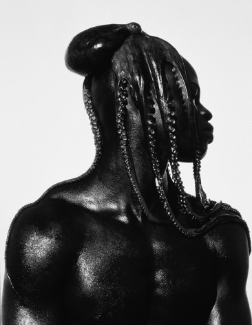 Djimon with Octopus, Hollywood, 1989, 30 x 24 Inches, Linen Photograph, Edition of 12