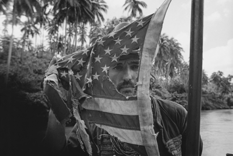 """Dennis Hopper during the filming of """"Apocalypse Now"""", Pagsanjan, Philippines, 1976, Silver Gelatin Photograph"""